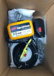 """INGERSOLL RAND QCH50-1ND50H20-16-3C ELECTRIC CHAIN HOIST 1/2"""" TONS 230V 3 PHASE"""