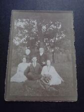 Vintage PHOTO  POSTCARD of FAMILY & DOG - Most likely German - 1907 - 1915