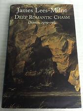 DEEP ROMANTIC CHASM BY JAMES LEES-MILNE, DIARIES, 1979-1981, HARDCOVER BOOK