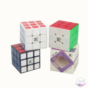 Dayan Zhanchi 3x3x3 Magic Cube Black Puzzle White 57mm Anti-POP for Speedcubing