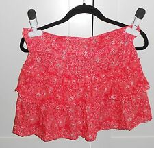 DREAM OUT LOUD BY SELENA GOMEZ ORANGE FLOWERED TIERED SKIRT - SIZE 7 JUNIORS