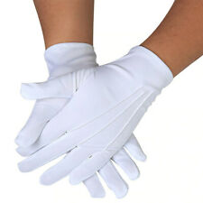 Unisex Parade Honor Guard Finger White Mittens Hands Protector Formal Gloves