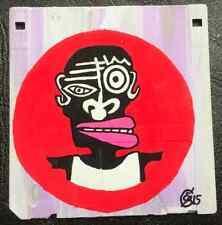 """""""RED POINT"""" de eR (street art brut outsider raw graff) PAYPAL OK"""