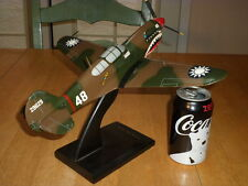 P-40E WARHAWK Fighter Plane, HANDMADE IN PHILIPPINES - WOODEN MODEL STATUE, 1:32