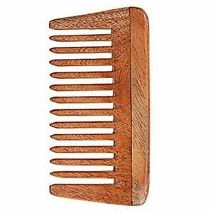 Wide Tooth Comb Of Pure Neem Wood - Free Shipping Worldwide