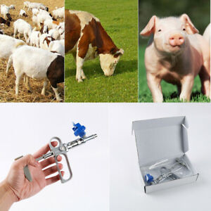 Continuous syringe gun metal automatic syringe injector for pig Chicken vaccine