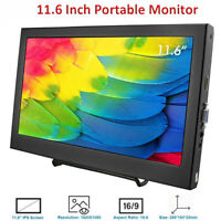 11.6 Inch LCD Monitor IPS HD Portable 1080P HDMI for Raspberry Pi PS4 PS3 XBOX