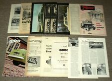 11 x Vintage FORD CONSUL Mk1 ( Zephyr) adverts and tests etc JOBLOT