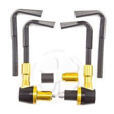 "Gold Lever Guards CNC Plastic Brake Clutch 7/8"" Handlebar Protection Bar End"