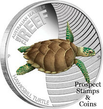 2011 Australian Sealife II - The Reef Hawksbill Turtle 1/2oz Silver Proof Coin