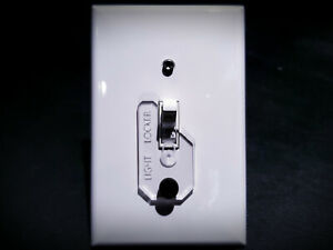TOGGLE LIGHT SWITCH GUARD / LOCK LOCKER FOR SWITCH CHILD SAFETY