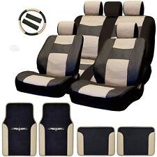 New Semi Custom Syn Leather Seat Covers Split Seat Vinyl Mats BT Set For VW