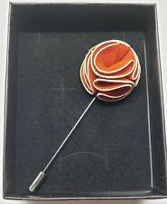 a I love you gift box. Flower Brooch Pin orange Velvet Petals in