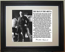 Theodore Rosvelt IN THE ARENA Famous Quote Framed & Matted Photo Picture #gm1