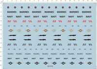 1/48 Astray marines navy nsawc Model Kit Water Decal