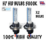 2X XENON HID BULBS 35W H7 METAL BASE 5000K *BEST QUALITY*