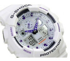 Casio G-Shock Sports Mens X-Large World Time Watch White Resin GA100A GA-100A-7A