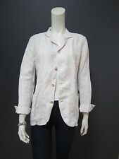 45rpm 100 % linen jacket NEW with TAG size 4 off white
