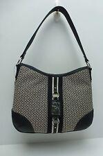TOMMY HILFIGER Handbag *Black Multi w/Silver Hobo Satchel Tote Purse  $85 New