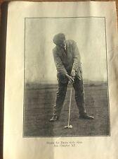 Antique Golf Memorabilia Photo of James Braid Golfing Print How to Play Slice