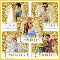 Cinderella Movie Stickers x 5 - Birthday Party Supplies - Favours - Princess