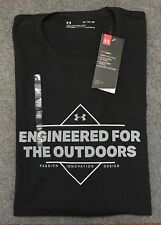 Under Armour * UA Engineered for Outdoors T Shirt Heatgear Black XL for Men