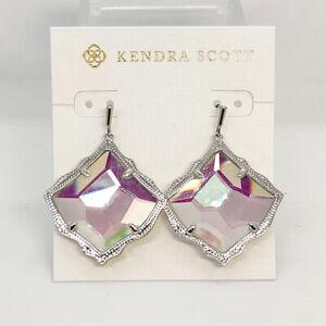 New Kendra Scott Kirsten Drop Earrings In Dichroic Glass / Silver