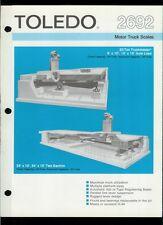 Super Rare Vintage Original Toledo Scale Brochure: 2692 Motor Truck Scales