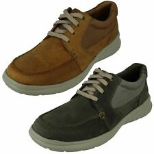 Mens Clarks 'Cotrell Lane' Casual Leather Lace Up Shoes - G Fit