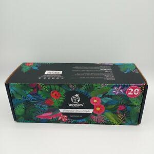 "NEW Beetles 23 pc Professional Gel Nail Polish Kit ""Perfect 20"" Color Gift Set"