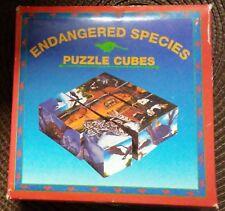 Puzzle-Endangered Species Puzzle Cubes - 6 Puzzles on 9 Cubed Pieces!.