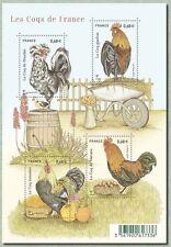 BLOC de 4 timbres poste   Les Coqs de France   neuf  sous blister 2015