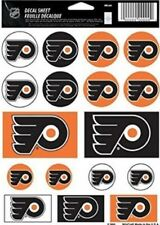 Philadelphia Flyers ~ Lot of (17) Stickers ~ 5x7 Inch Sheet