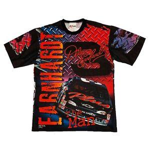 Vtg NWOT Rare NASCAR #3 Dale Earnhardt Big All Over Print T Shirt. Mens Large.