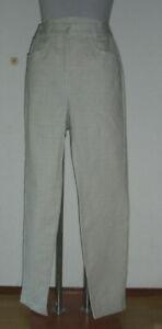 Damenhose neu   Gr.38   grau/gelb/natur kariert   Baumwolle   Nr.4854