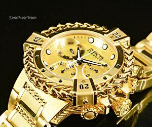 NEW 42MM Invicta WOMEN'S RESERVE Bolt HERCULES MOP Dial ALL GOLD Bracelet Watch