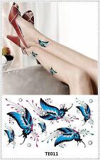 Butterfly Temporary Tattoo Sticker DIY Keep 3-5 days Waterproof 9x17cm TE011