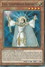 YU-GI-OH CARD: LYLA, LIGHTSWORN SORCERESS - SDMP-EN016 - 1st EDITION