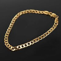 *FREE* 18K Gold Filled Men's Bracelet Chain plated Birthday Gift Bag *FREE*