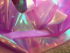 Nail art /holographic broken glass angel paper /foil Mauve Pink 1 meter length