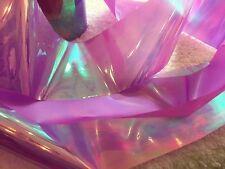 Nail art /holographic broken glass angel paper /foil Mauve Pink 1 meter length