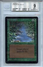 MTG Beta Stream of Life BGS 9.0 (9) Mint Card Magic the Gathering WOTC 0710
