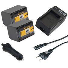 2x Batteria Patona + Caricabatteria casa/auto per Sony HDR-CX360V,HDR-CX360VE