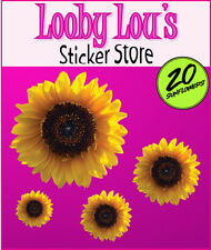 Lovely Sunflower Vinyl Car Stickers Internal or External x20