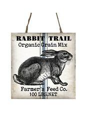 Rabbit Trail Grain Min Printed Handmade Wood Ornament Small Sign