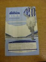 03/04/1956 West Bromwich Albion v Birmingham City  (folded, creased, rusty stapl