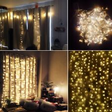 200~600 LED Curtain Fairy String Lights Lamp Waterproof Wedding Party Decoration