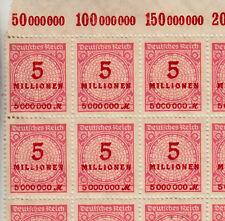 Briefmarken Deutsches Reich Michel 317A   1 Bogen komplett 100 Stk ** <<<<<<<<<<