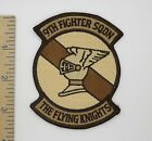 US AIR FORCE 9th TAC FIGHTER SQUADRON PATCH FLYING KNIGHTS Desert Camo USAF
