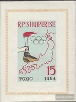 Albanien Block19B (kompl.Ausg.) postfrisch 1963 Olymp. Sommerspiele `64, Tokio